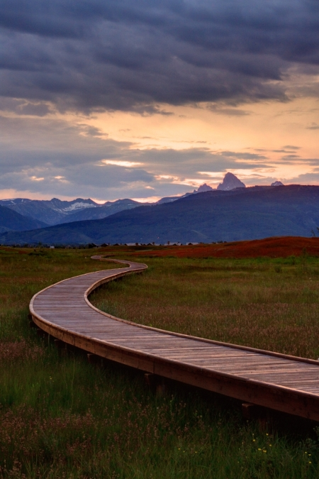 Grand Tetons and the boardwalk